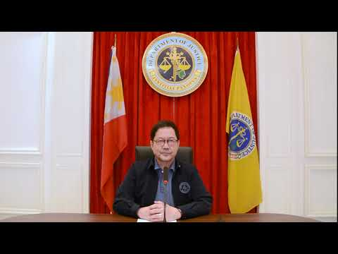 Department of Justice Philippines - Message of Support for the NIPM