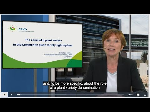 Webinar: the name of a plant variety in the Community Plant Variety Right system (CPVR)