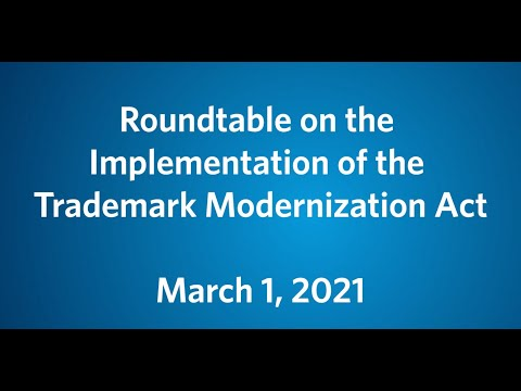 Roundtable on the implementation of the Trademark Modernization Act