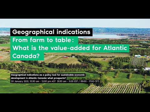 Geographical indications as a policy tool for sustainable economic development in Atlantic Canada