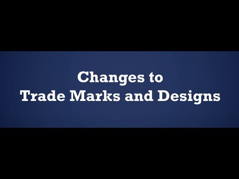 Changes to trade marks and designs after the transition period