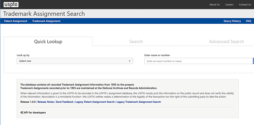 Trademark Assignment Search