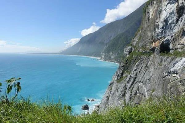 taiwan sea cliff